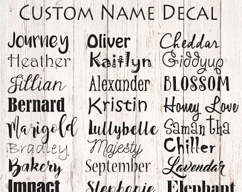 Custom Name Decal Personalized Label Sticker Vinyl Yeti Lettering