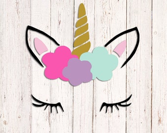 Unicorn Vinyl Decal Etsy