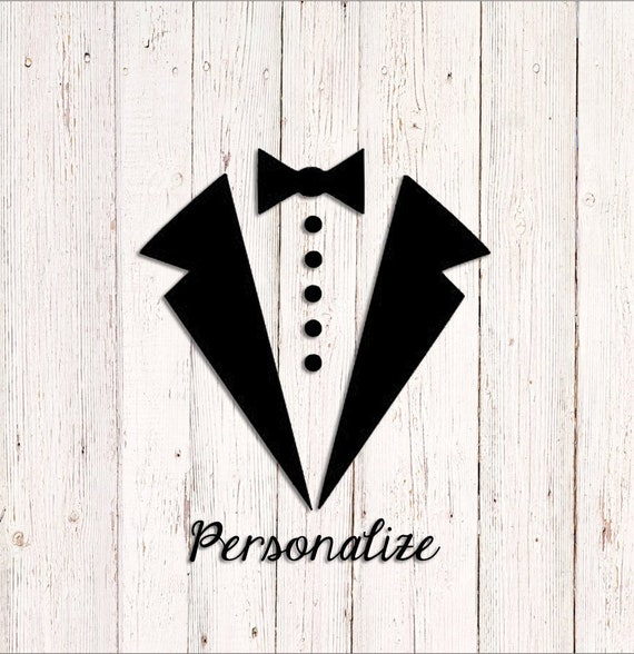"Tuxedo Bachelor Party 2/"" Personalized Round Stickers"