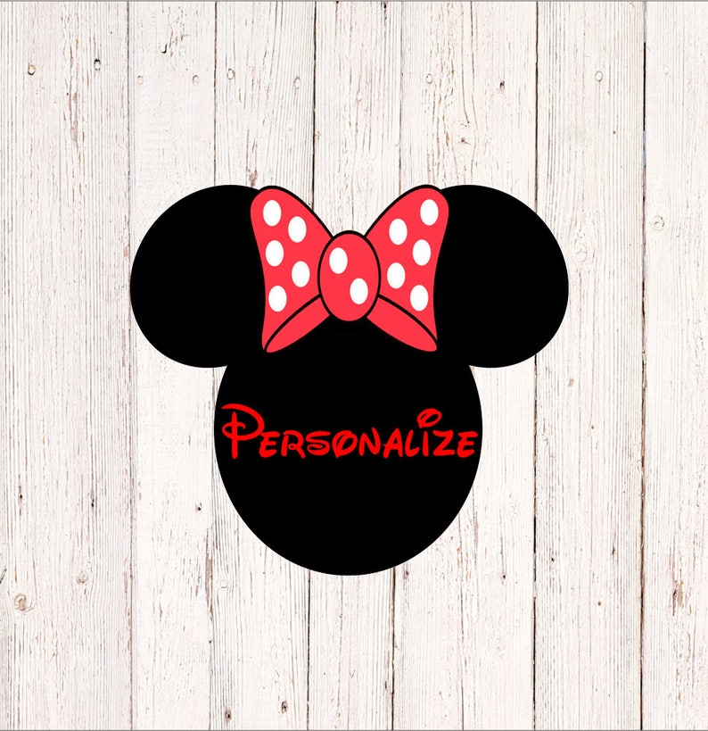 7dc059e5342 Minnie Mouse Decal Personalized Minnie Mouse Sticker Walt   Etsy