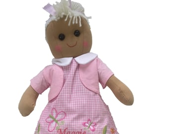Beautiful Personalised Butterfly Rag Doll