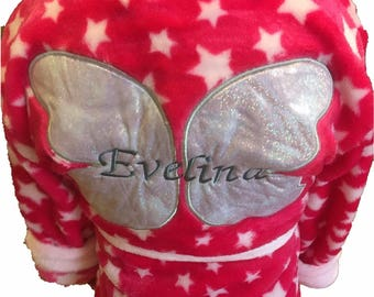 Personalised Pink Fairy Princess Dressing Gown Age 5-6 Years