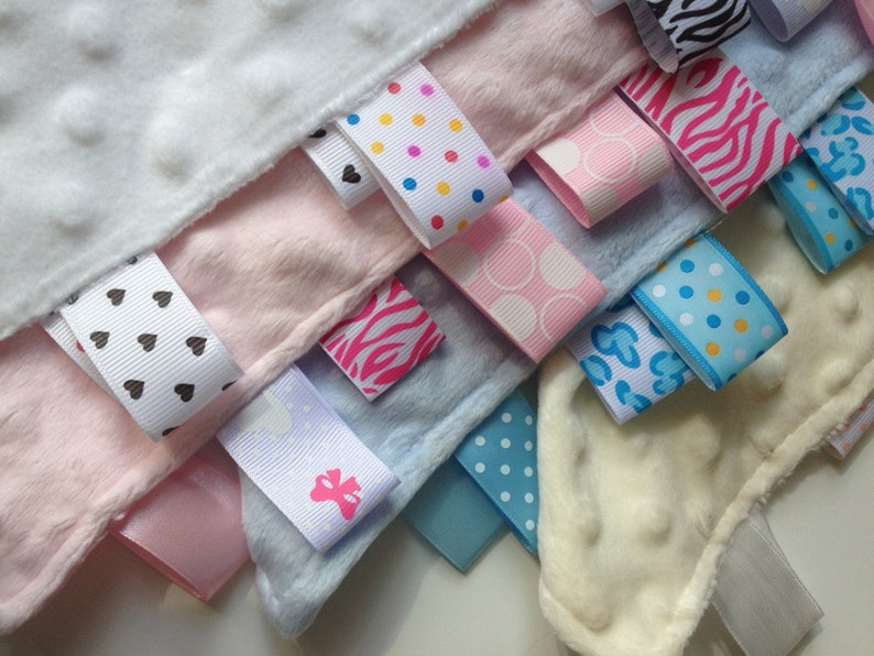 Personalised Taggie Taggy blanket Arched Name