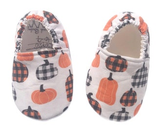 Pumpkin Moccasins, Shoes for Baby or Toddler, Classroom Shoes, Montessori Shoes, Vegan