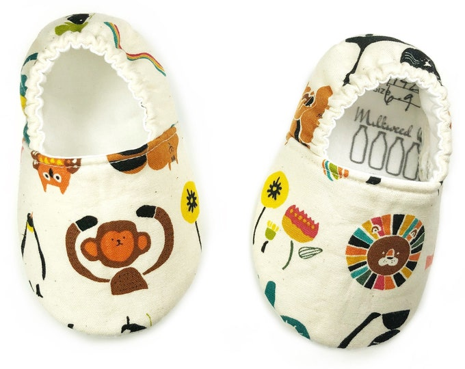 6-9mo Ready to Ship Jungle baby shoes for boys & girls