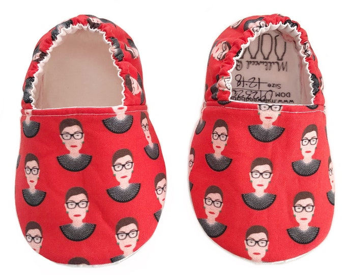 Notorious RBG Moccasins for Babies, Toddlers, Kids