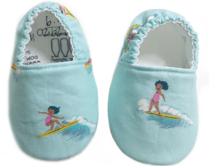 6-9mo Ready to Ship Surfer Girl Moccasins