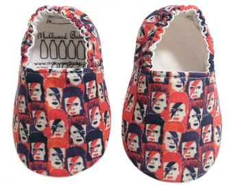 3-6mo Ready to Ship David Bowie Ziggy Stardust Moccasins