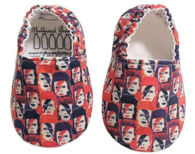 3-6mo Ready to Ship David Bowie Ziggy Stardust Moccasins