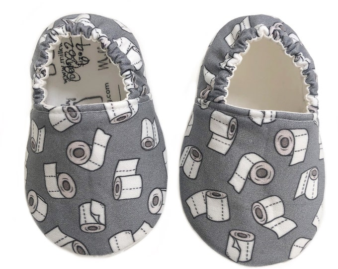 6-9mo Ready To Ship Toilet Paper Moccasins