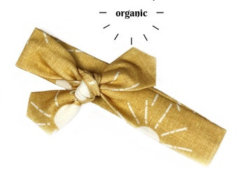 Golden Suns Organic Cotton Knotted Headband