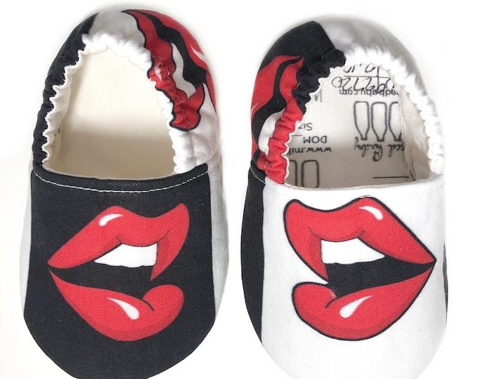 Pop Art Lips Moccasins