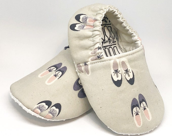 12-18 month Ready To Ship Saddle Shoe Moccasins