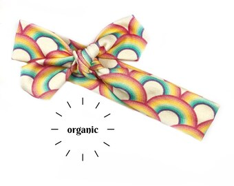 Bright Rainbows Organic Cotton Knotted Headband