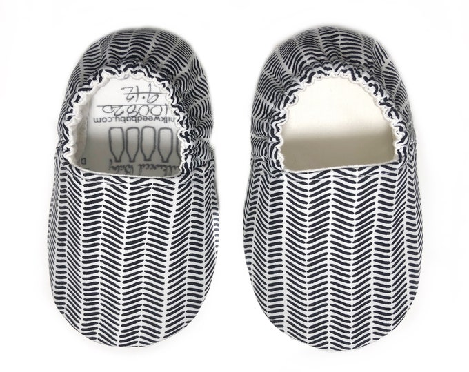 Black and White Moccasins
