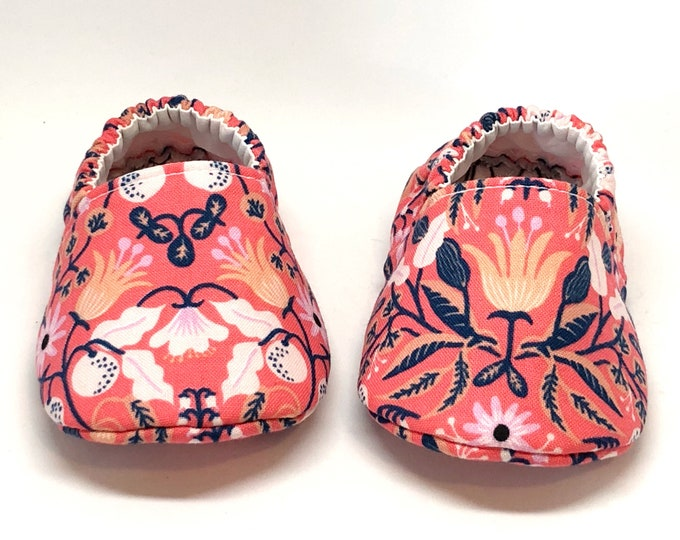 Pink Floral Moccasins, Rifle Paper Co, Amalfi