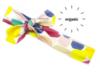Colorful Abstract Organic Cotton Knotted Headband