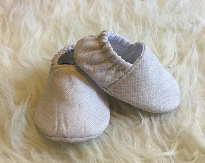 Lavendar Ice Cream Soft Sole Baby Shoes Toddler Shoes Kid Slippers  - Made to Order - Lilac Plaid Pastel Baby Girl Shoes Light Purple