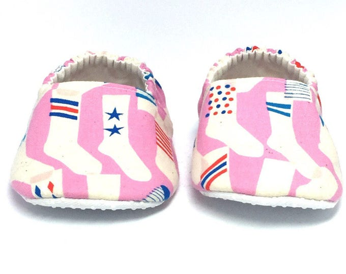 12-18mo RTS Baby Moccs: Tube Socks / Baby Shoes / Children Indoor Shoes / Vegan Moccs / Toddler Slippers / Montessori Shoe