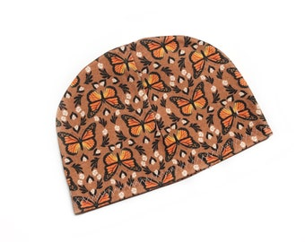 Monarch Butterfly organic baby hat