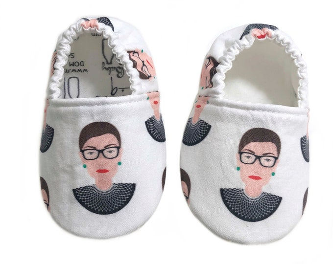6-9mo Ready to Ship Notorious RBG Moccasins