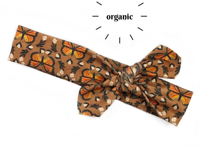 Monarch Butterfly Organic Cotton Knotted Headband