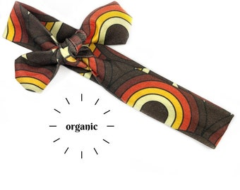 Retro Rainbows Organic Cotton Knotted Headband