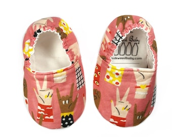 9-12 months Ready to Ship Peace & Love Moccasins