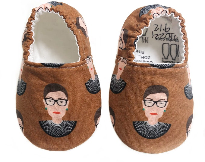 9-12mo Ready to Ship Notorious RBG Moccasins
