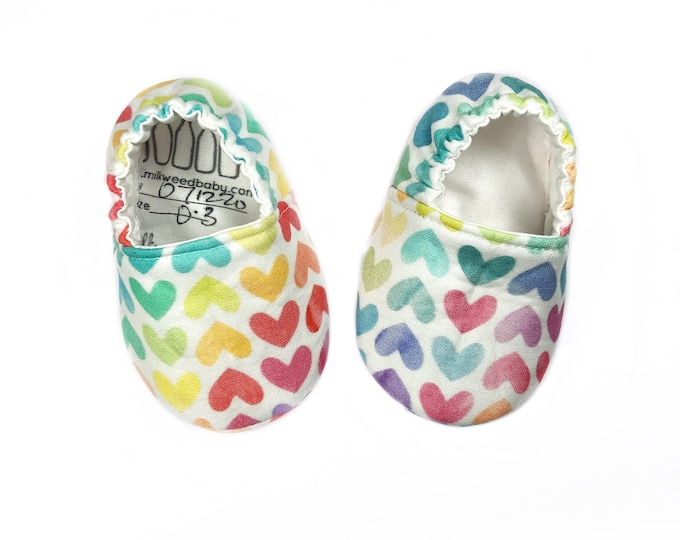 Rainbow Hearts Moccasins