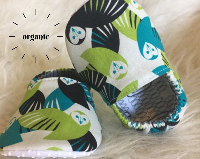 Organic Owl Moccasins