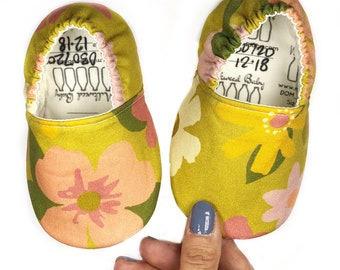 12-18mo RTS Floral Shoes, A Beautiful Mess Moccasins