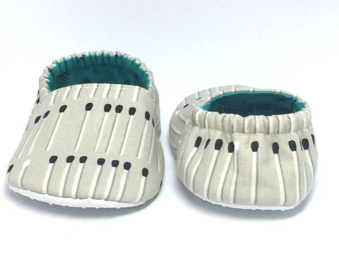 12-18mo RTS Baby Moccs: Match Sticks / Baby Shoes / Children Indoor Shoes / Vegan Moccs / Toddler Slippers / Montessori Shoe