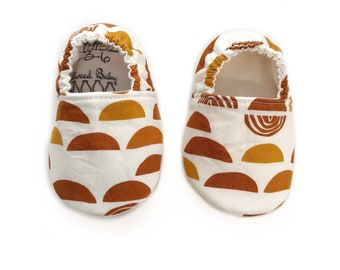 3-6mo Ready to Ship Autumn Rainbow Moccasins