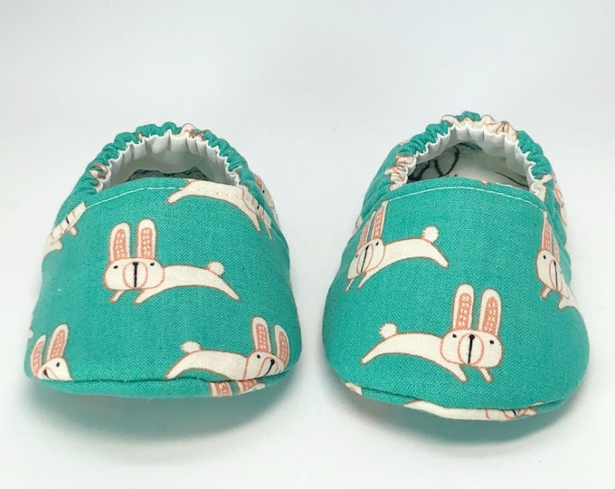 0-3month Ready To Ship Easter Bunny baby shoes