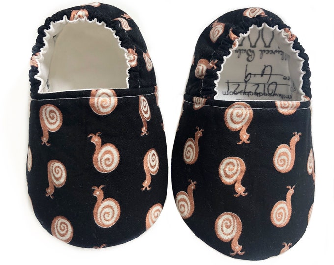 6-9mo Ready To Ship Copper Snails Moccasins