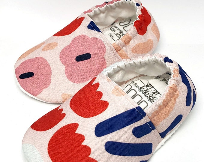 Soft Sole Shoes, Abstract Floral, Newborn through Toddler Size 13