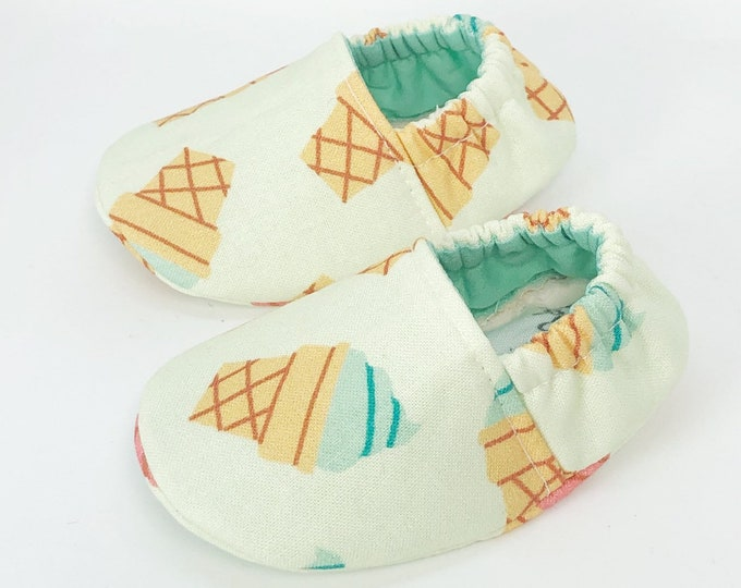 0-3mo RTS Ice Cream Cone Baby Shoes