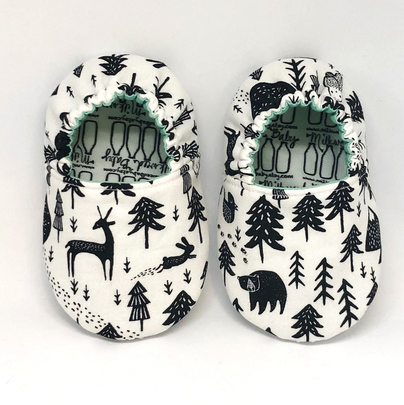 Camping Infant Shoes, Forest Animal Moccasins, Baby Bear, Unisex Shoes for  Baby or Toddler, Classroom Shoes, Owl Baby, Woodland Creatures