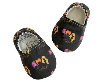 I Put a Spell On You Moccs / Moccs/ Mocs / Infant Moccasins / Baby Moccs / Toddler Moccasins / Toddler Slippers / Vegan / Soft Sole Shoes