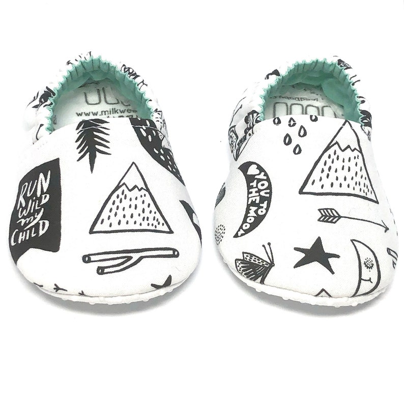 2bb1143d6d3bc Bear Baby shoes woodland camp forest crib shoes booties, i love you to the  moon and back, adventure awaits, run wild my child, newborn toddl
