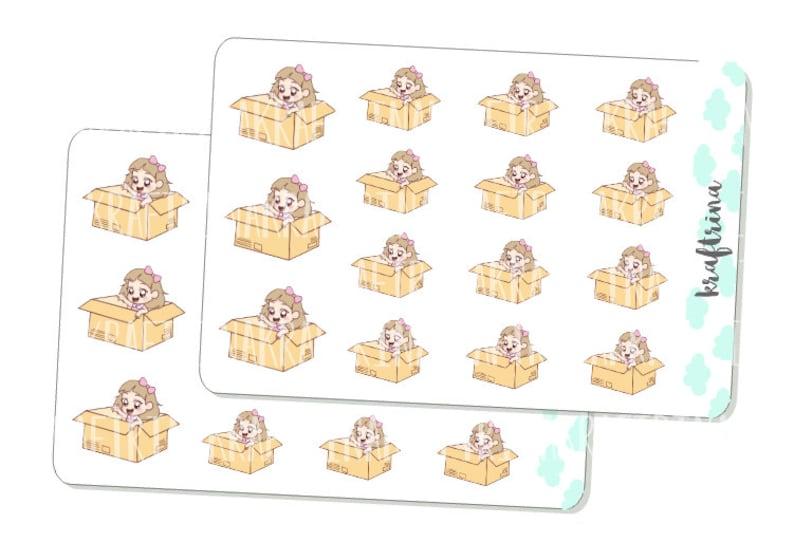 Happy Package stickers for Planners Kikkik Filofax Happy Planners Scrapbook 15 MIMI-CHAN