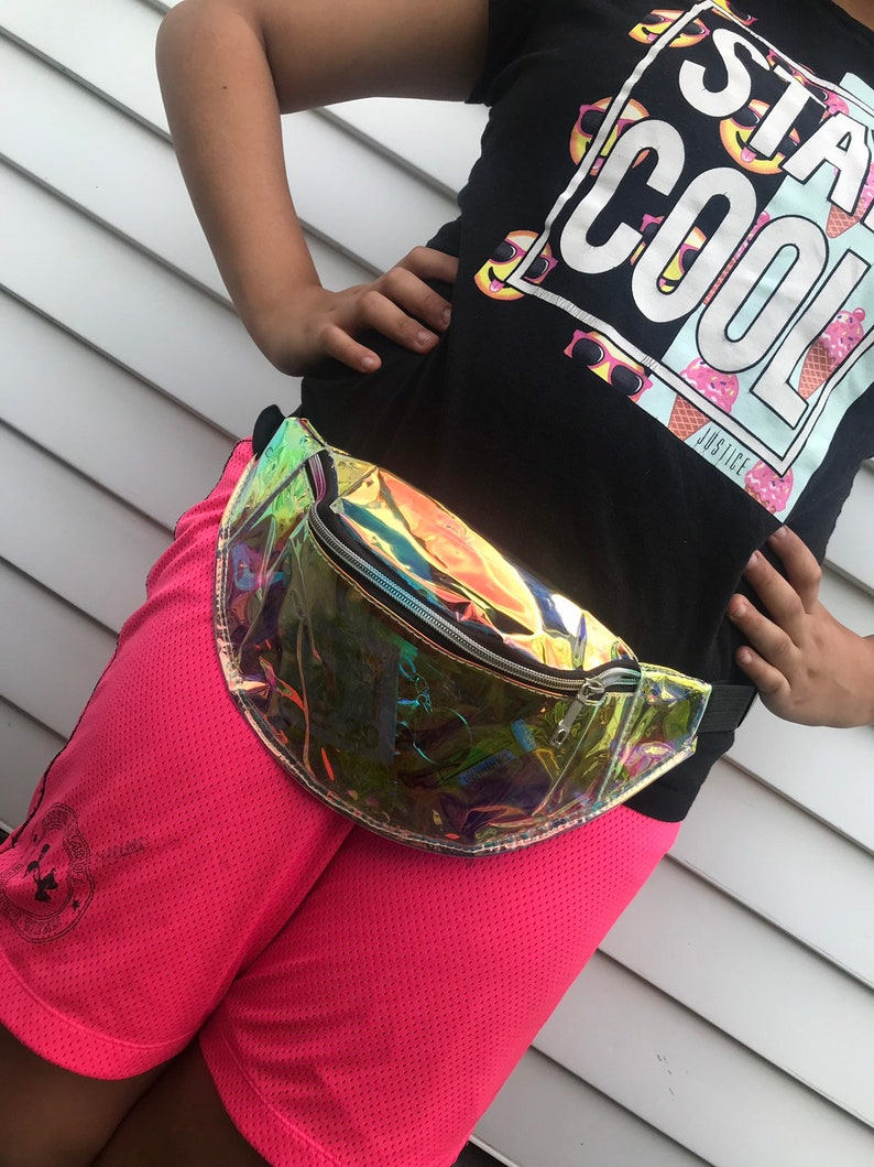 Holographic clear Fanny pack