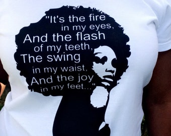 318aaa929 Phenomenal Woman quote shirt, Afro woman shirt, empowerment