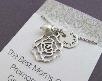 Grandma-to-be Necklace, Gift for new grandma to be, New Grandma necklace, grandmother to be gift, Baby announcement Gift, New Grandparents