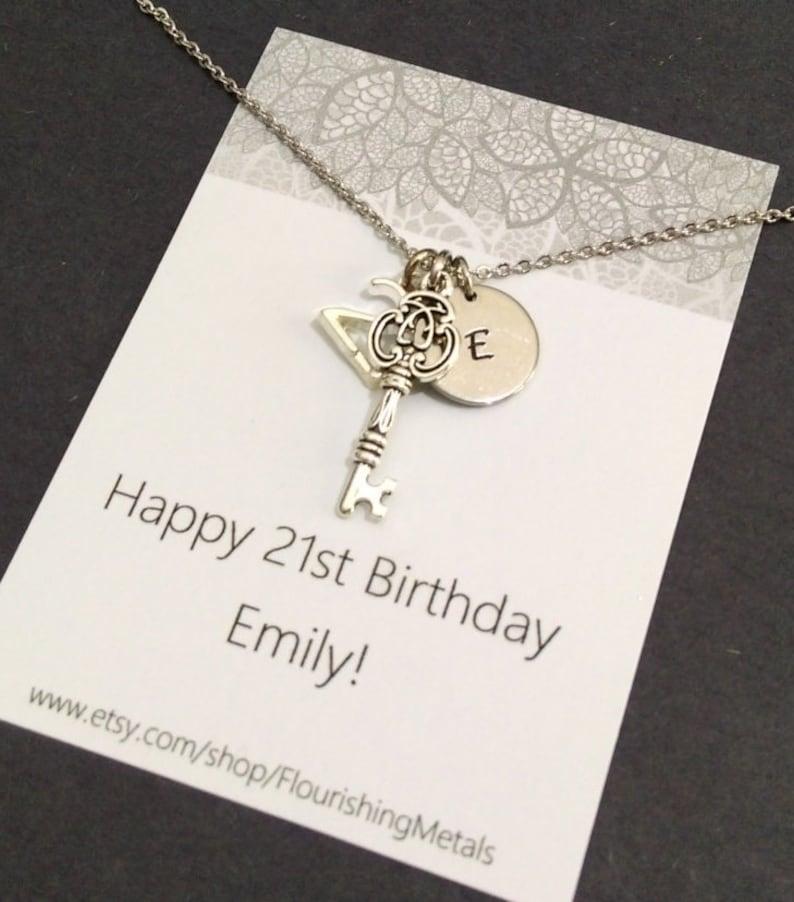 21st Birthday Gift Key Necklace