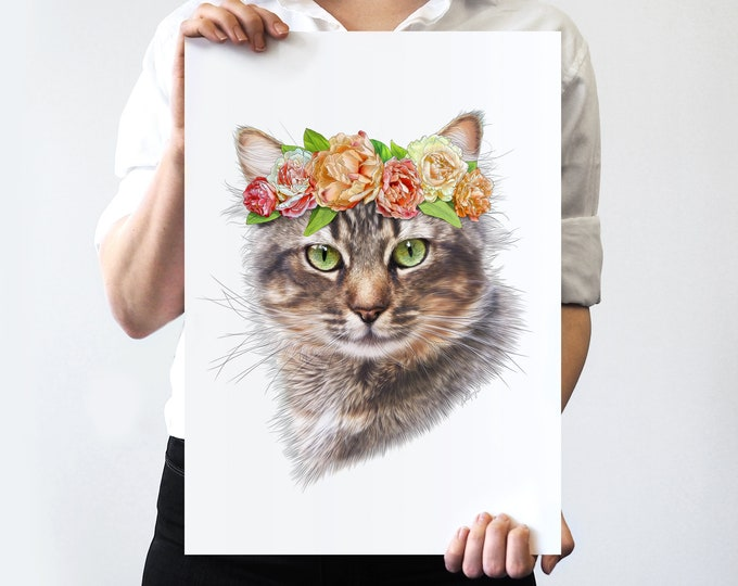 Penny Flower Crown Pet Portrait