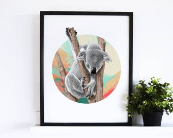 The Sleepy Koala // Abstract Collection