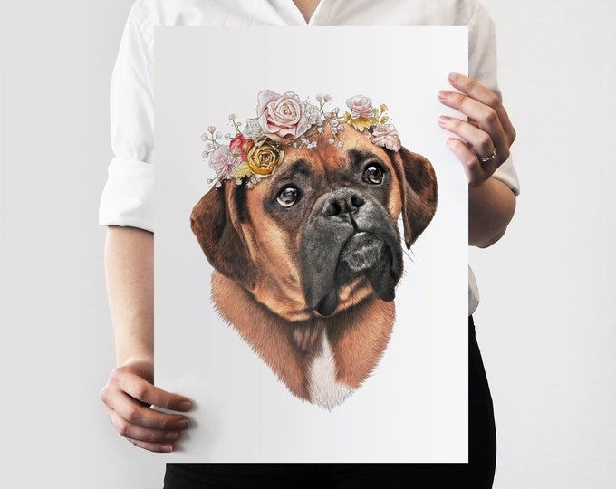 Rosie Flower Crown Pet Portrait