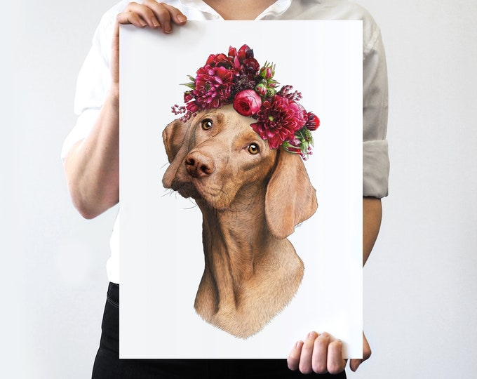 Sally Flower Crown Pet Portrait